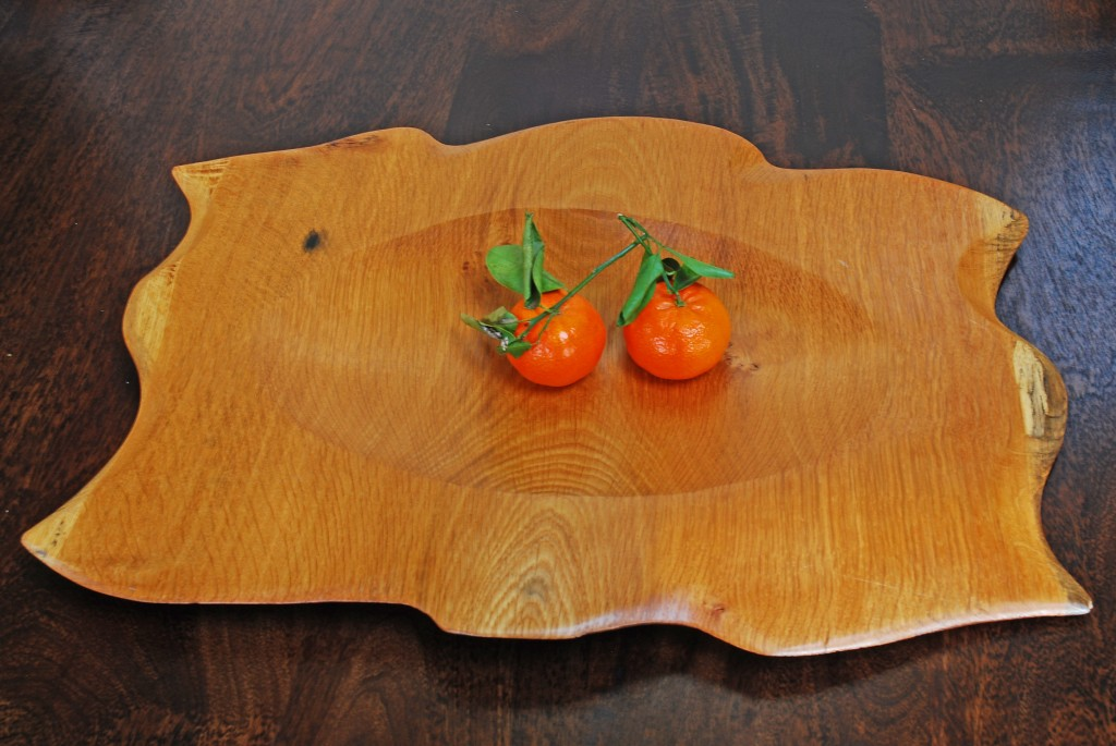 Sculptured Oak Platter